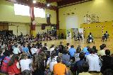 Več kot 300 otrok prisluhnilo košarkarjem