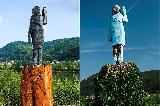 V Sevnici odkrit nov kip Melanije Trump